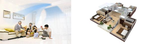 三管制温湿平衡3D气流室内机